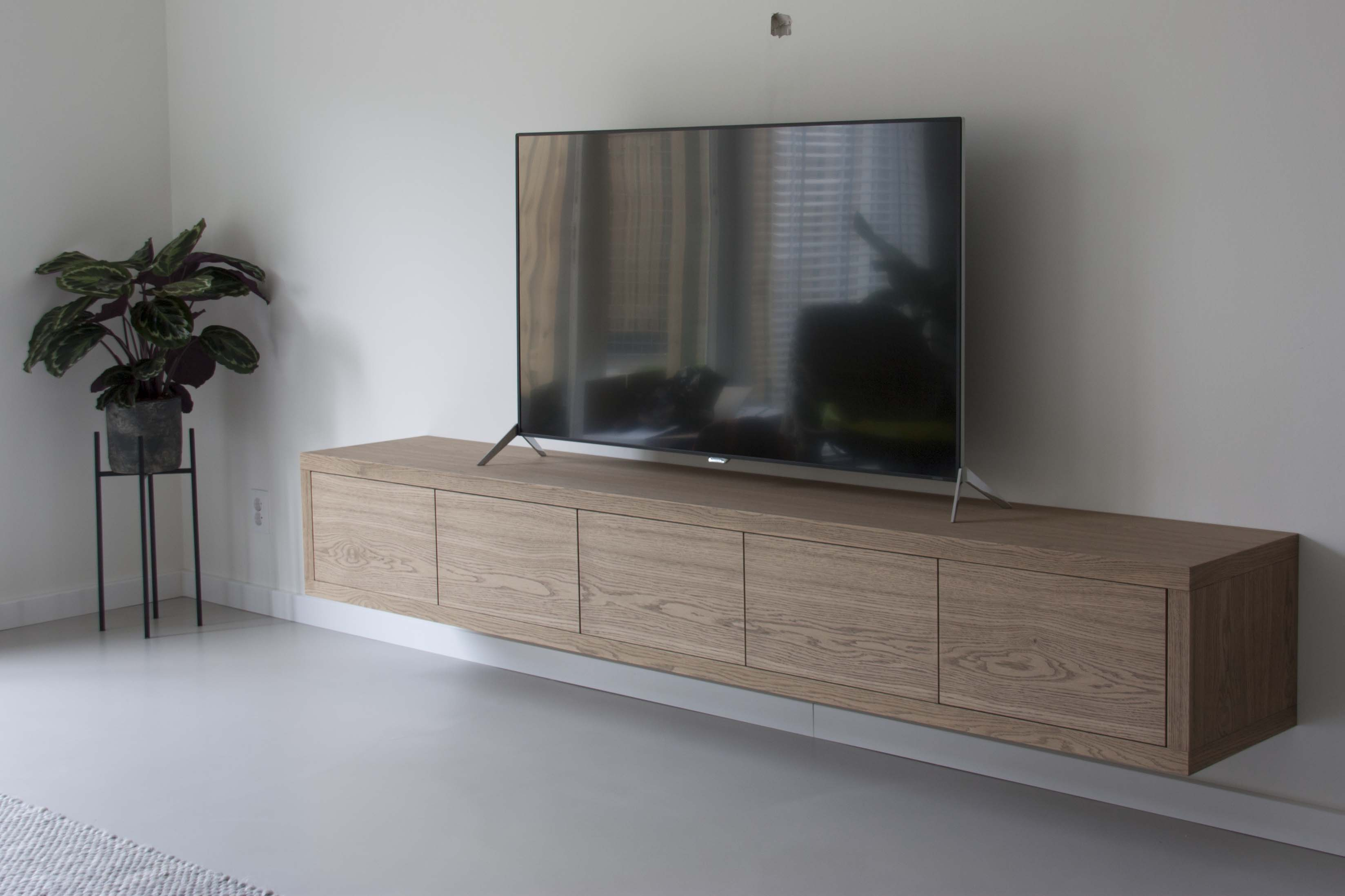 tv meubel eiken white wash