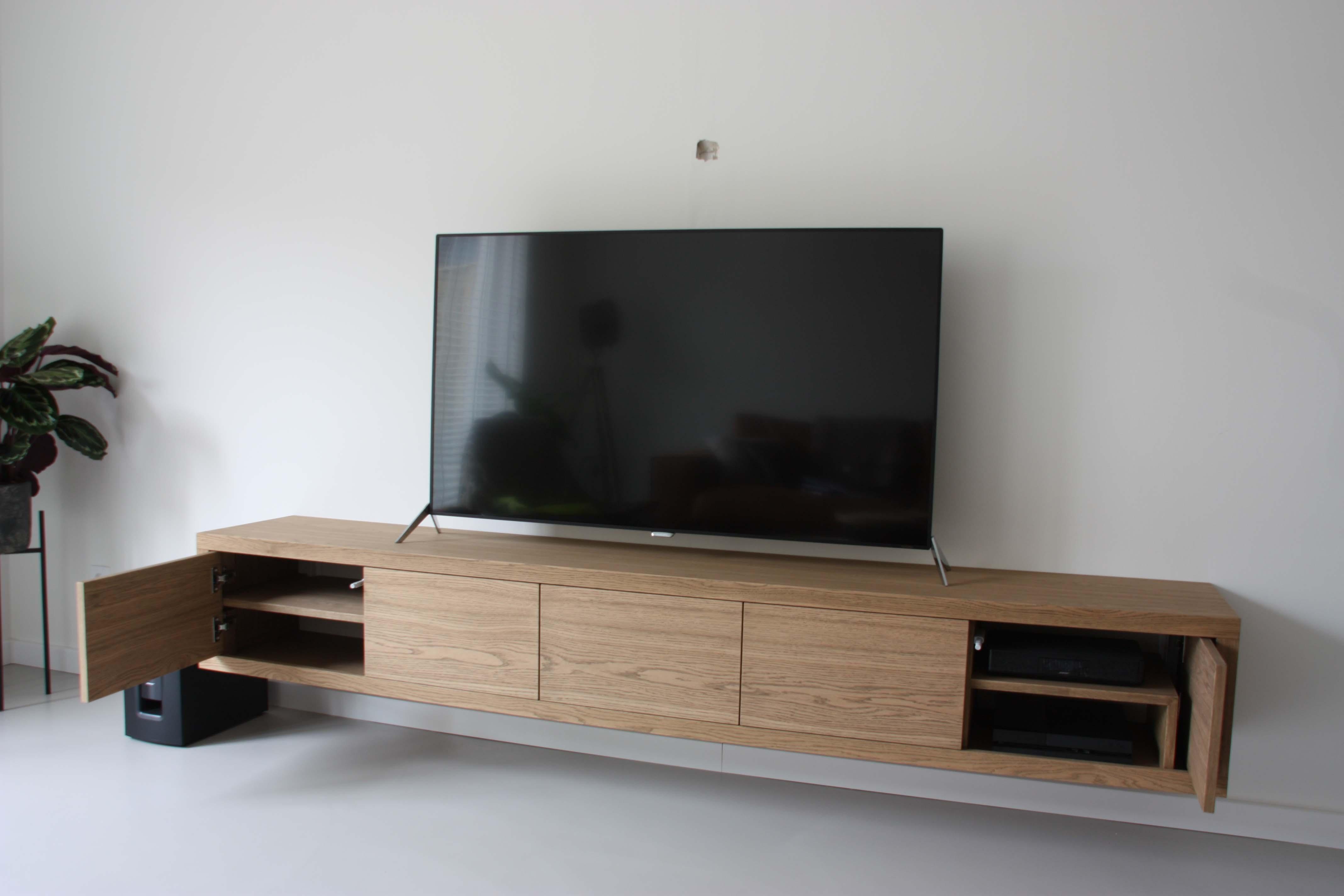 Zwevend tv meubel meeldijk meubelmakerij meubelrestauratie