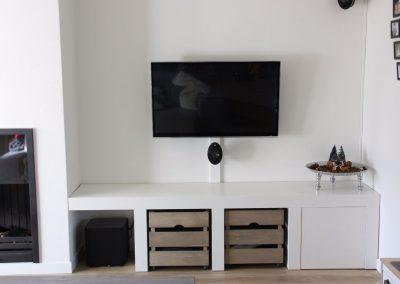 Hoogslaper kamerinrichting meeldijk meubelmakerij meubelrestauratie - Hoogslaper met geintegreerde garderobe ...