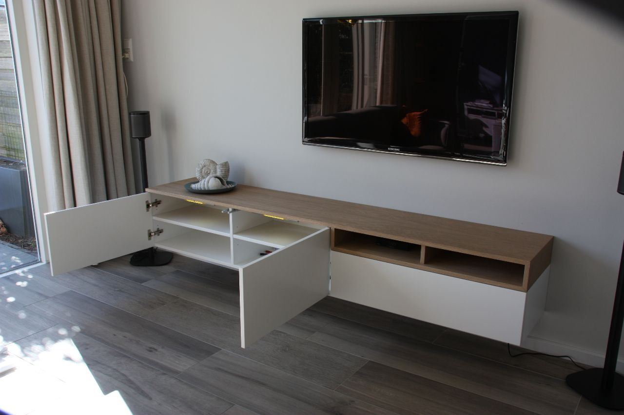 Tv meubel wit-eiken lll