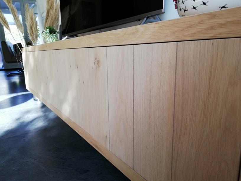 Zwevend tv meubel eiken landelijk llll